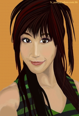 Helena Wong. Portrait digital Painting in Photoshop