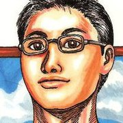 Bernard Au, Self Portrait, manga, art, pen, fineline, black ink, colour, letraset, promarker, traditional art, drawing, pencil,