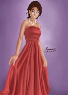 Elegant dress for night ball