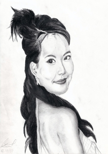 Stephy Tang. Pencil portrait drawing