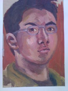 Rough, not spent alot of time, Self Portrait. Oil Paints