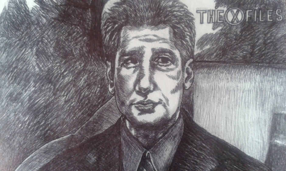 Fox Mulder, Portrait, David Duchovny, art, fanart
