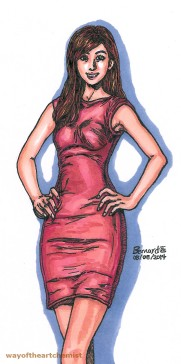 Miss HK, model, modelling, posing, pose, beauty, letraset, promarkers, dress, slender, sexy, skin,