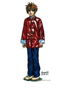 chinese clothing, culture, youth, kung fu, manga style art, character design, boy, man, illustration,