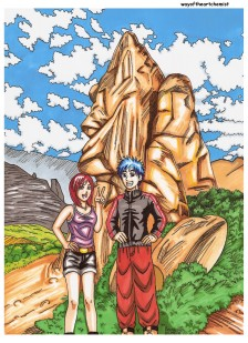 Peru, Markawasi, illustration, manga style, photo, pose, couple, friends, slice of life, enjoying life, being, consciousness, alive, ancient sites, culture, art, letraset, promarkers,