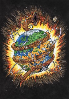 Earth Kundalini Energy Awakening, Year of the Snake, Concept art, Illustration painting